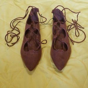 NWOT Gap lace up ballet flats